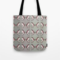 trout Tote Bags featuring Rainbow Trout by Emi Claire Brown
