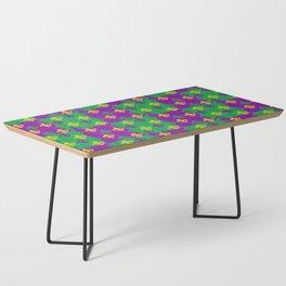 Mardi Gras Fleur-de-Lis Pattern Coffee Table