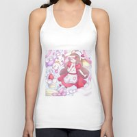 bee and puppycat Tank Tops featuring Bee & puppycat ver 2 by Kurodoj