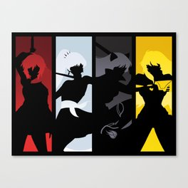 Silhouetted Huntresses Canvas Print