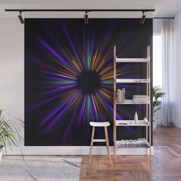 Purple and orange light trails starburst Wall Mural