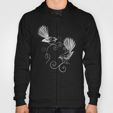White Fantails  Hoody