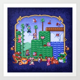 Mario Super Bros, Too Art Print
