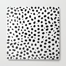 Black And White Cheetah Print Metal Print