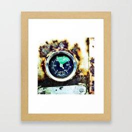 Ruined dial Framed Art Print