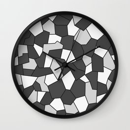 Hard Mosaic 06 Wall Clock