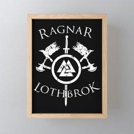 Ragnar Lothbrok | Viking Valhalla Norge Mythology Framed Mini Art Print
