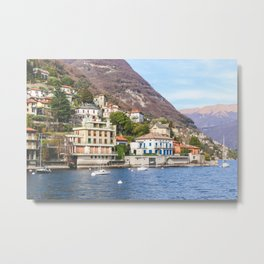 Hillside Villas at Lake Como Metal Print