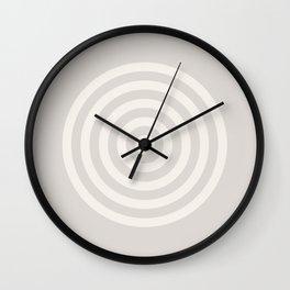 Cream Series 1 - Retro Circles Wall Clock