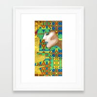 nouveau Framed Art Prints featuring Nouveau Girl by Steve W Schwartz Art