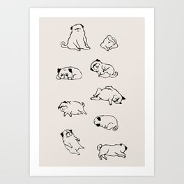 More Sleep Pug Art Print