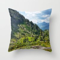 washington Throw Pillows featuring Washington by amberino