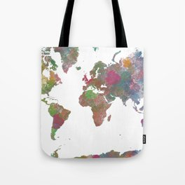 World Map - Watercolor 4 Tote Bag