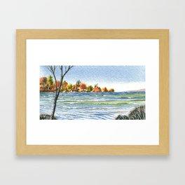 Lake Simcoe, Jacksons Point, Fall Winds, Oct 2013 Framed Art Print