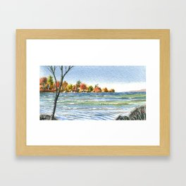 Lake Simcoe, Jacksons Point, Fall Winds, Oct 2013 Framed Art Print