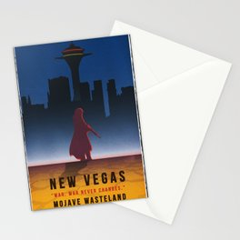 Fallout New Vegas - Vintage Style Vacation Poster Stationery Cards