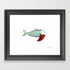 fish with beard Framed Art Print
