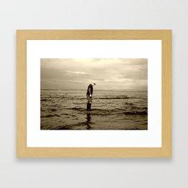 A Boy and The Sea Framed Art Print