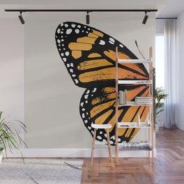 Monarch Butterfly   Left Butterfly Wing   Vintage Butterflies   Wall Mural