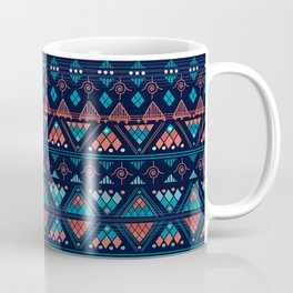 Boho Diamond Geometric Pattern Var. 6 Coffee Mug