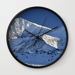 Snowy mountains. 3.478 meters Wall Clock