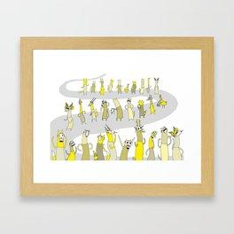 Animal Maskparade Framed Art Print