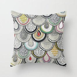 dragon scales Throw Pillow