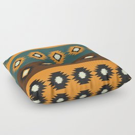 Stripes with native shapes Floor Pillow