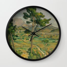 "Paul Cezanne ""Mountain Sainte-Victoire and the Viaduct of the Arc River Valley"" Wall Clock"