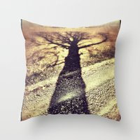 shadow Throw Pillows featuring Shadow by Jessica Morelli