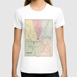 Vintage Map of Keene New Hampshire (1877) T-shirt