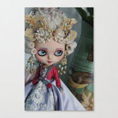 BAROQUE MARIE ANTOINETTE BLYTHE ART DOLL PINK Canvas Print