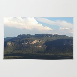 View from Diamond Plateau Mountains Rug