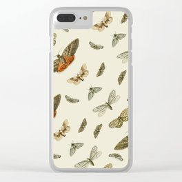 Moths Clear iPhone Case