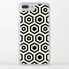 Geometric background in Black #society6 #decor #buyart #artprint Clear iPhone Case