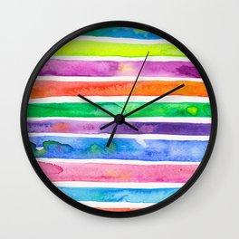 Bright Stripes Wall Clock