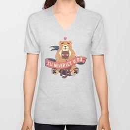 Ill Never Let You Go Bear Love Cat Unisex V-Neck