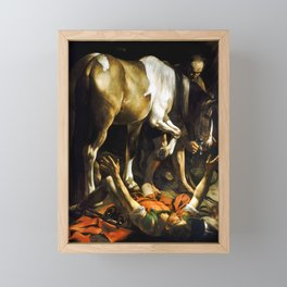 Caravaggio Conversion on the Way to Damascus Framed Mini Art Print