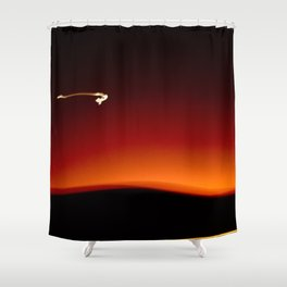 Night Lights Moon and Car Shower Curtain
