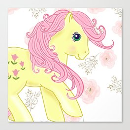 g1 my little pony Posey Canvas Print