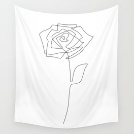Single Rose Wall Tapestry