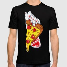 Pizza Slut Black LARGE Mens Fitted Tee