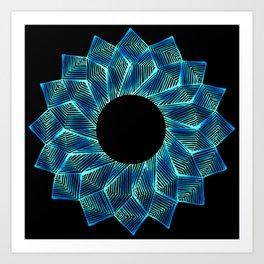 Inverted Threaded Lotus Art Print