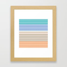 Cool Summer Stripes Framed Art Print