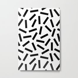 Modern Memphis Pattern Metal Print