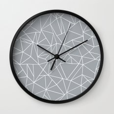 Abstraction Outline Grey Wall Clock