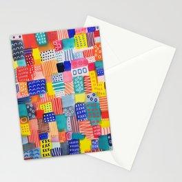 Venice Beach Rainbow Abstract Cityscape Stationery Cards