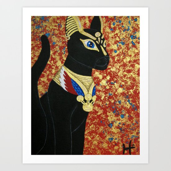 Egyptian Cat Art Print
