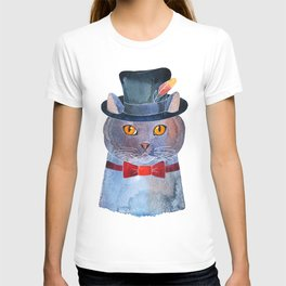 Lilac Cat In The Hat T-shirt