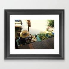 Floating Market Framed Art Print